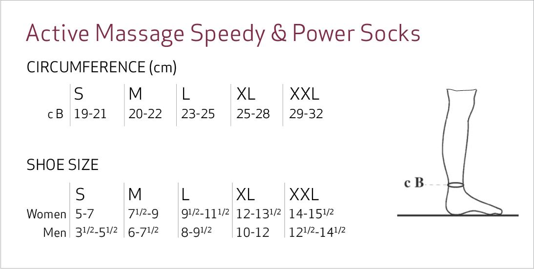 Solidea Active Massage Compression Speedy Mid Calf Socks Size Chart