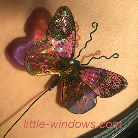 resin jewelry butterfly dichroish 3D wire