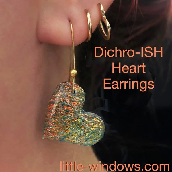 Resin crafting casting jewelry making earrings dichro film color shift iridescent