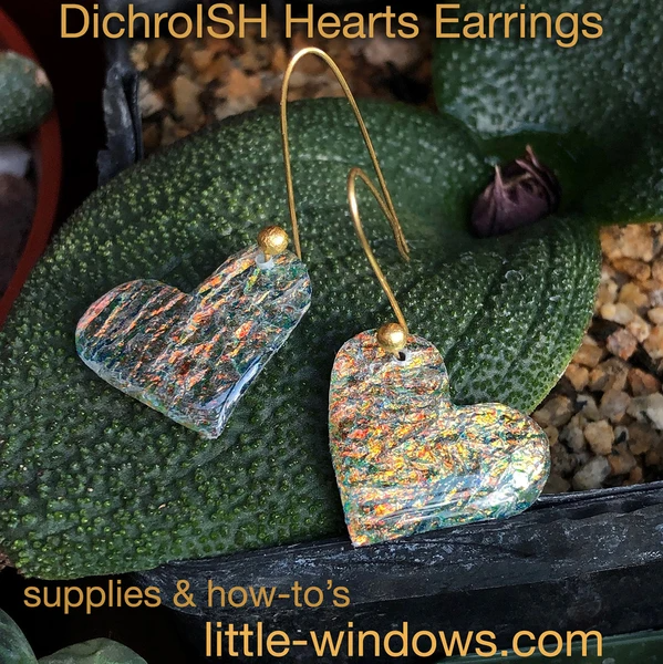 resin jewelry earring doming heart texture film on plant