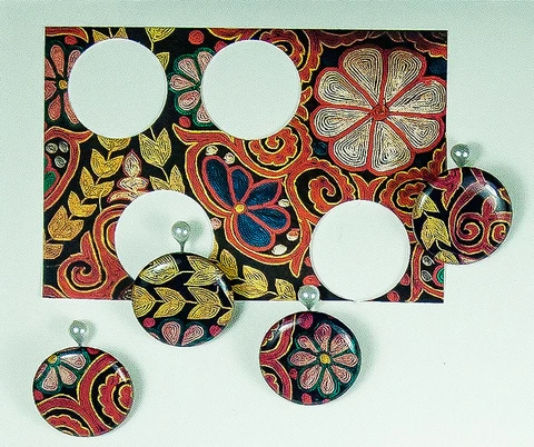 resin fabric photo buttons