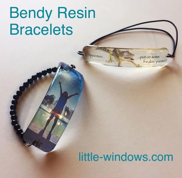 bendy resin bracelets jewelry making photo jewelry