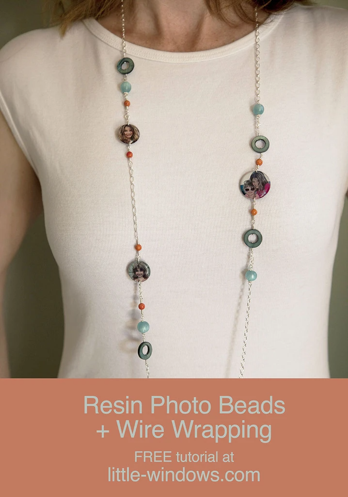 resin photo beads jewelry making doming necklace