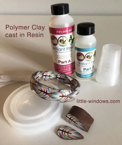resin casting polymer clay bangle bracelet brilliant resin