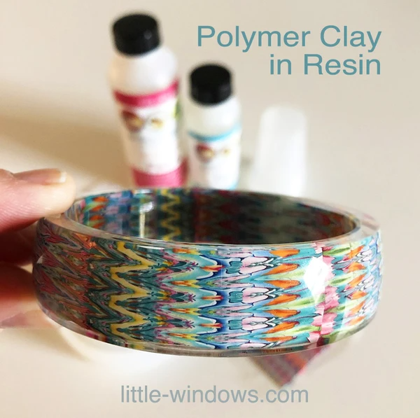 brilliant resin casting polymer clay bangle bracelet amethyst art studio