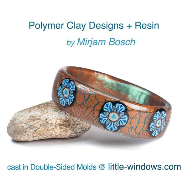 resin casting polymer clay bangle bracelet mirjam