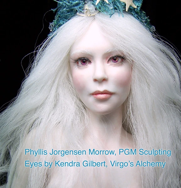 resin casting doll eyes Phyllis Jorgensen Morrow PGM Sculpting Virgos Alchemy