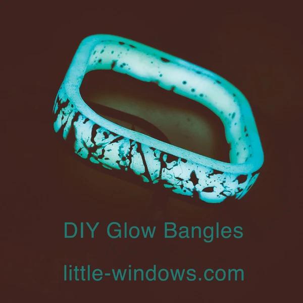resin casting bangle bracelet mold glow in the dark
