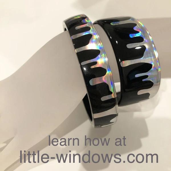 resin bangle bracelet casting cuff jewelry making stickers Halloween