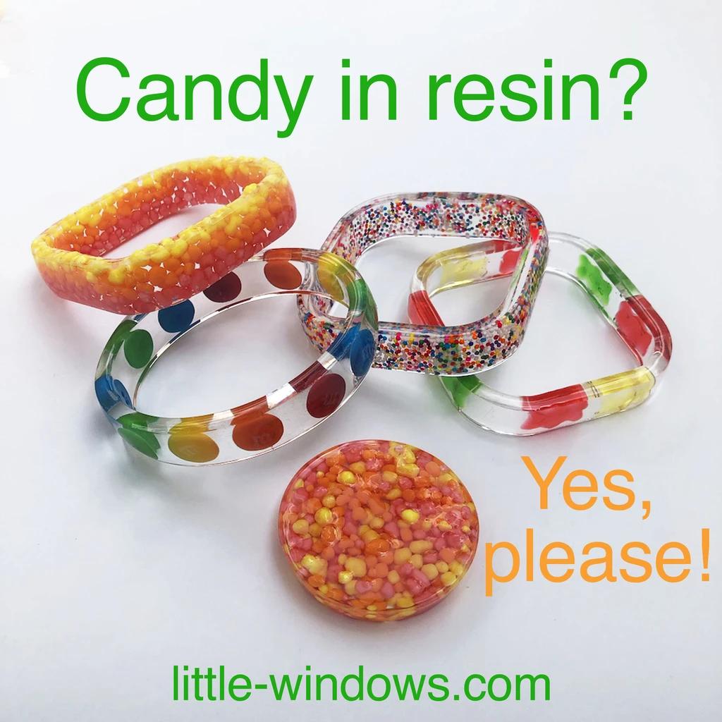 resin casting jewelry making candy sprinkles bangle bracelets