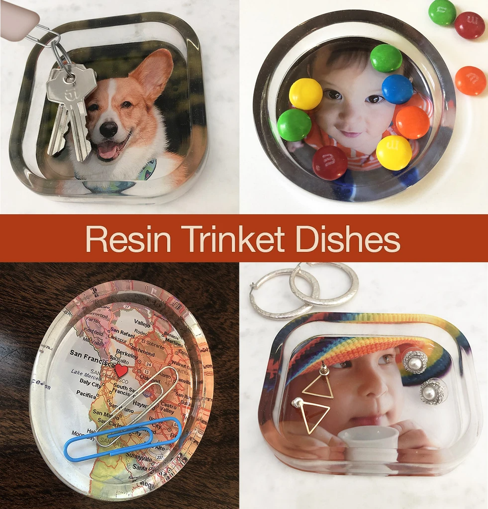 resin tutorial trinket dishes