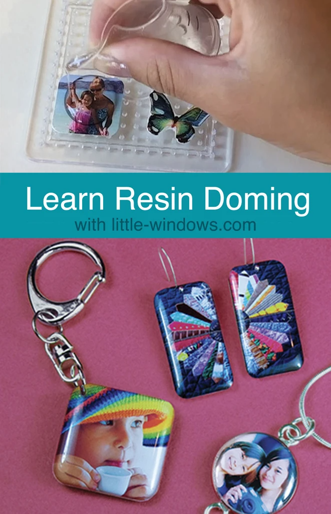 Resin Jewelry Making casting epoxy photo jewelry tutorial