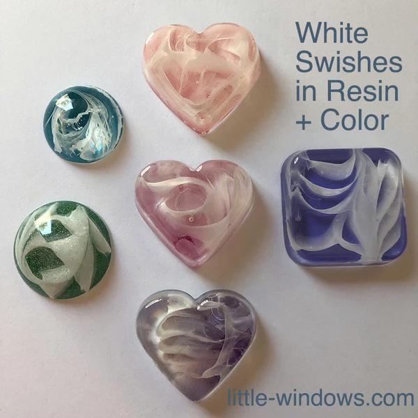 resin craft jewelry black white casting art resin