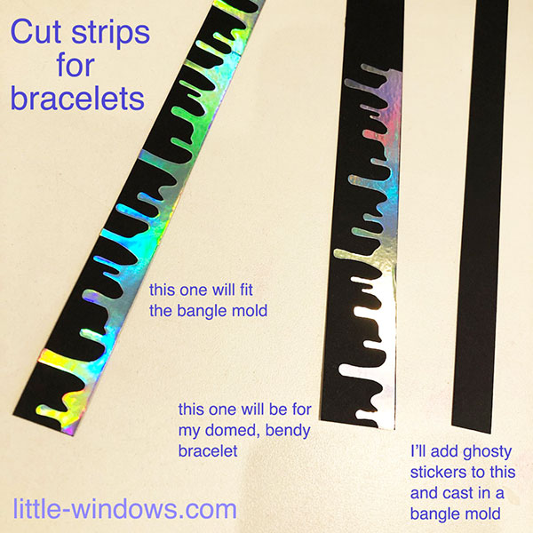 resin bracelet bangle cuff casting jewelrymaking stickers