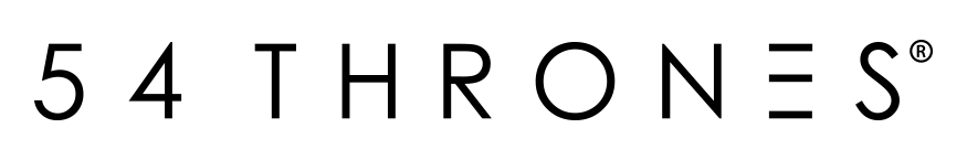 54 Thrones Black Logo