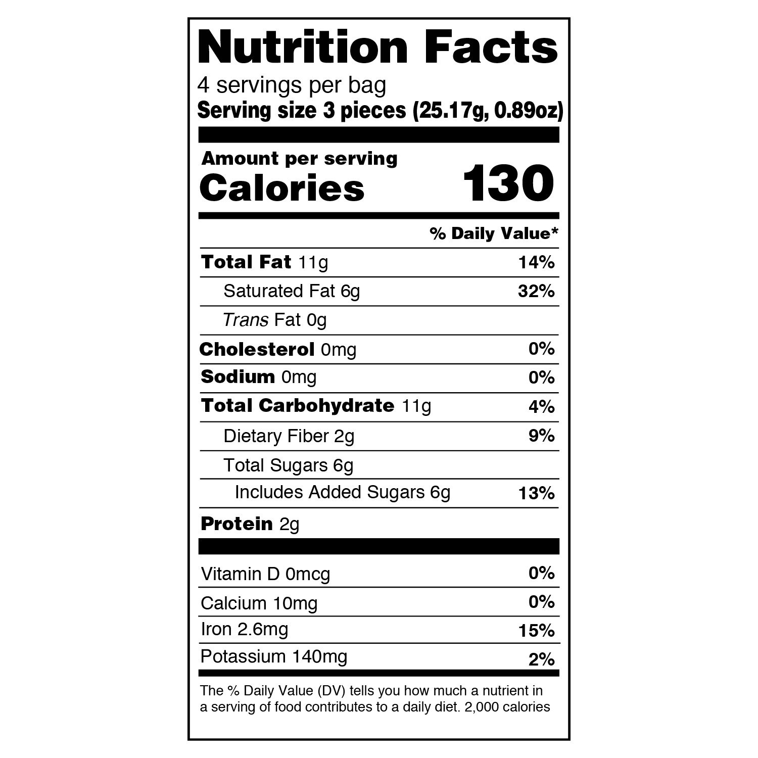 extreme nutritional information