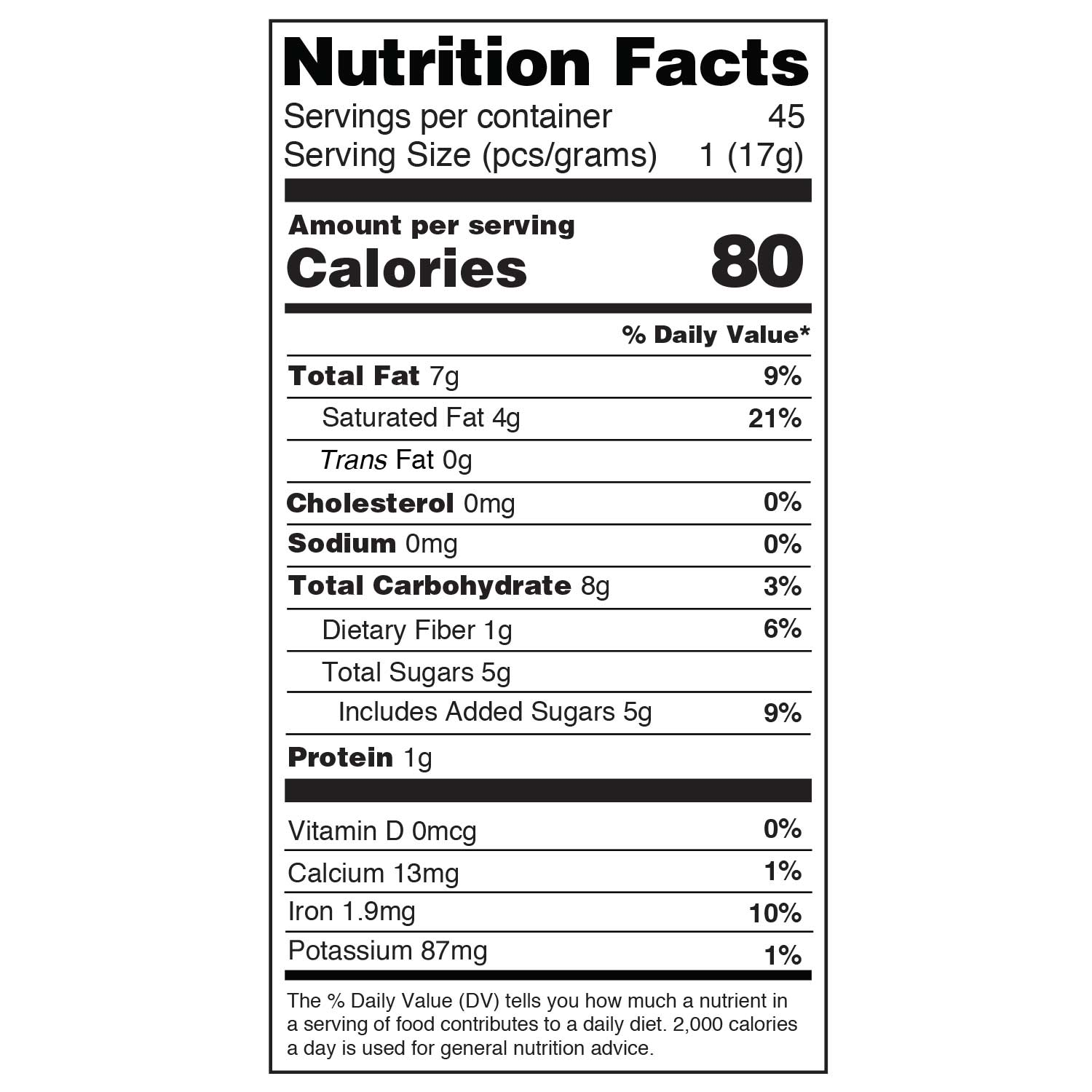tart cherry 17g daily dose nutritional information
