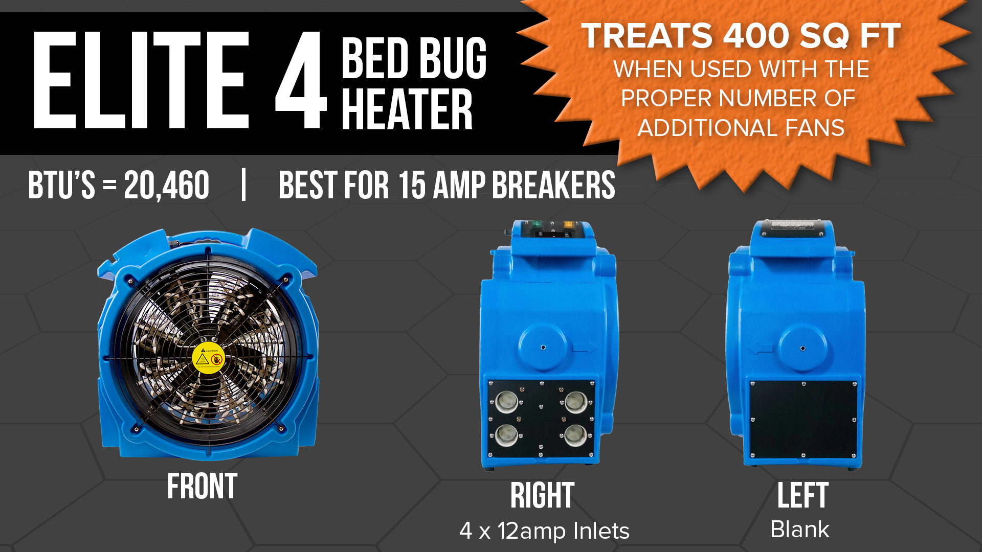 Elite 4 Bed Bug Eradication Heater