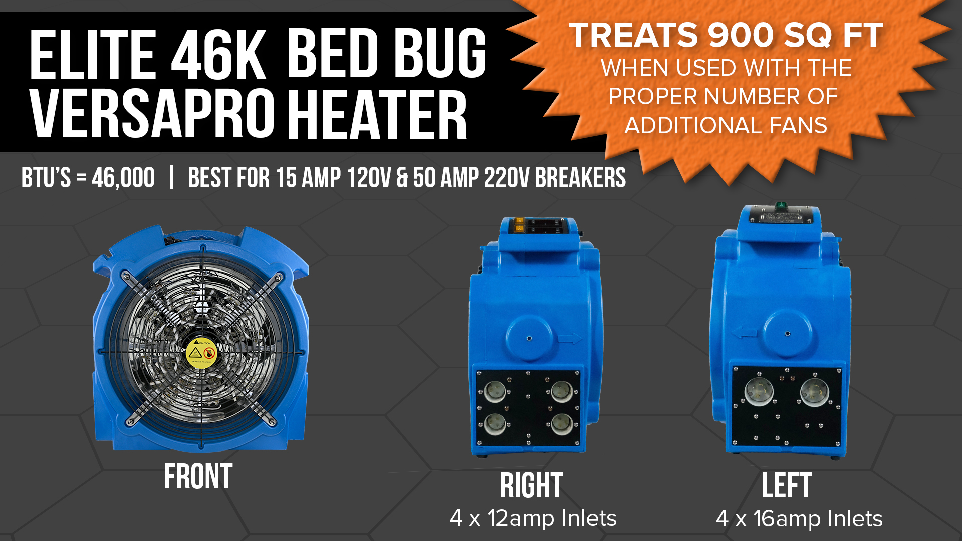 Versapro Bed Bug Heater Specs
