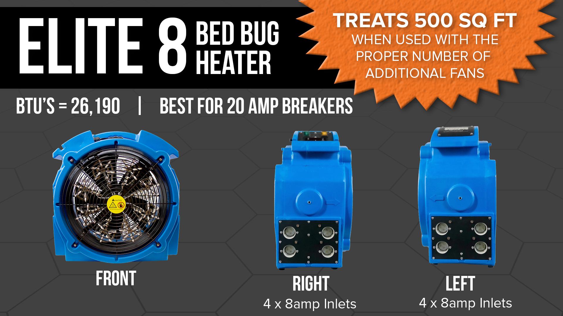 Elite 8 Bedbug Heater Specs