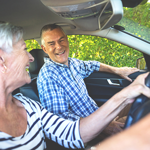 Mirai Clinical Senior Couple Sitting in Car Fabric Spray Deodorizer