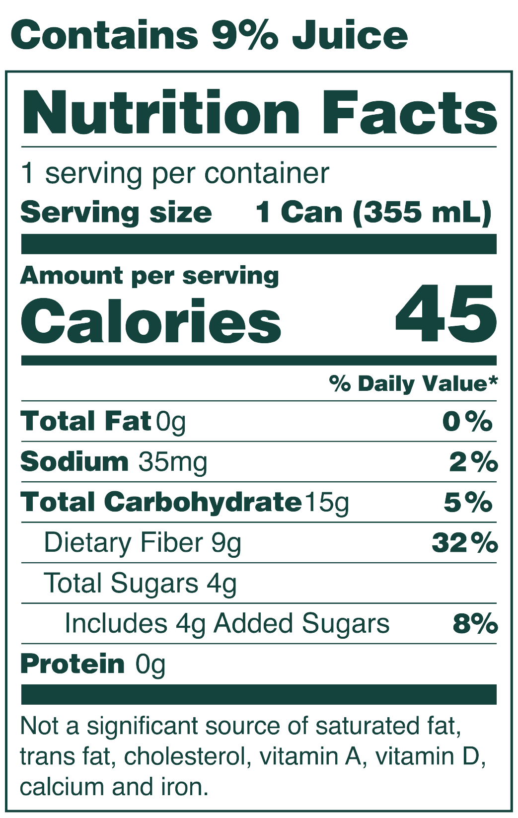 Classic Grape Nutrition Facts