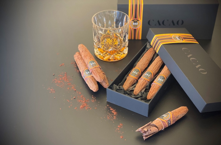 hand rolled artisan chocolate cigars