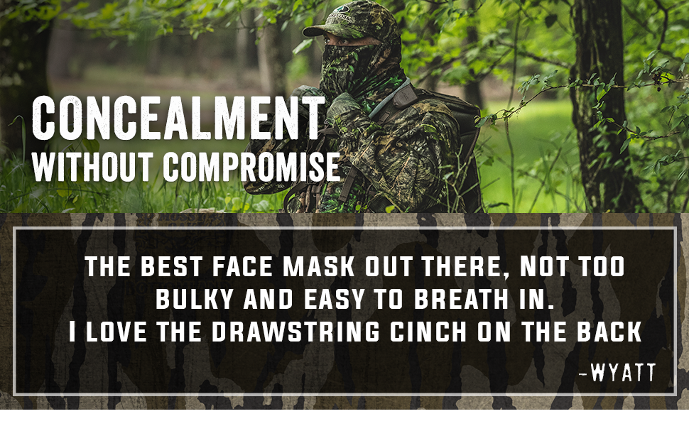 camo face covering for hunting