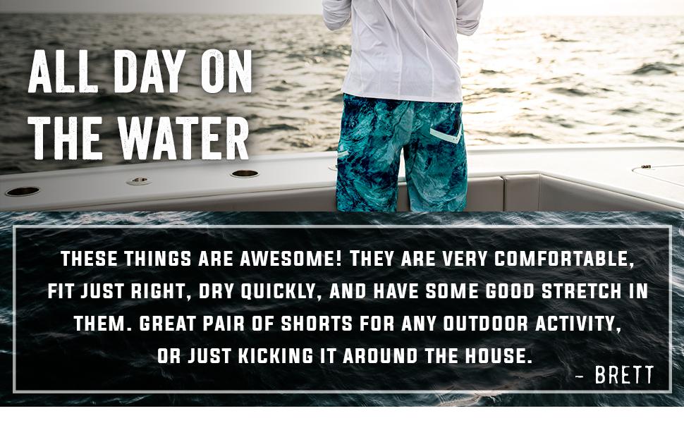mens fishing shorts