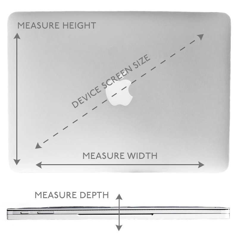 KNOMO Diagram Measure Device Screen Size, Height, Width and Depth | knomo.com