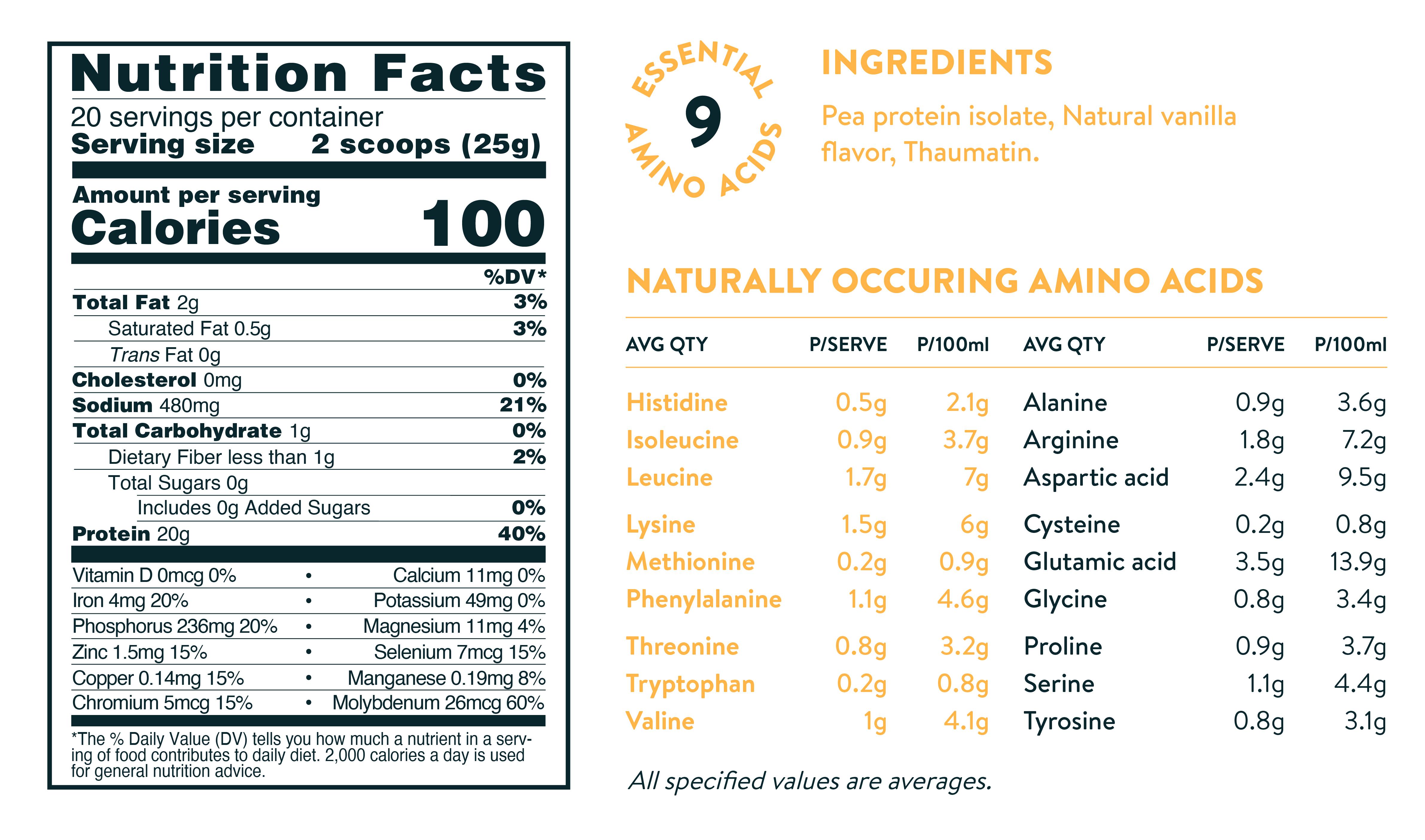 vegan vanilla protein powder