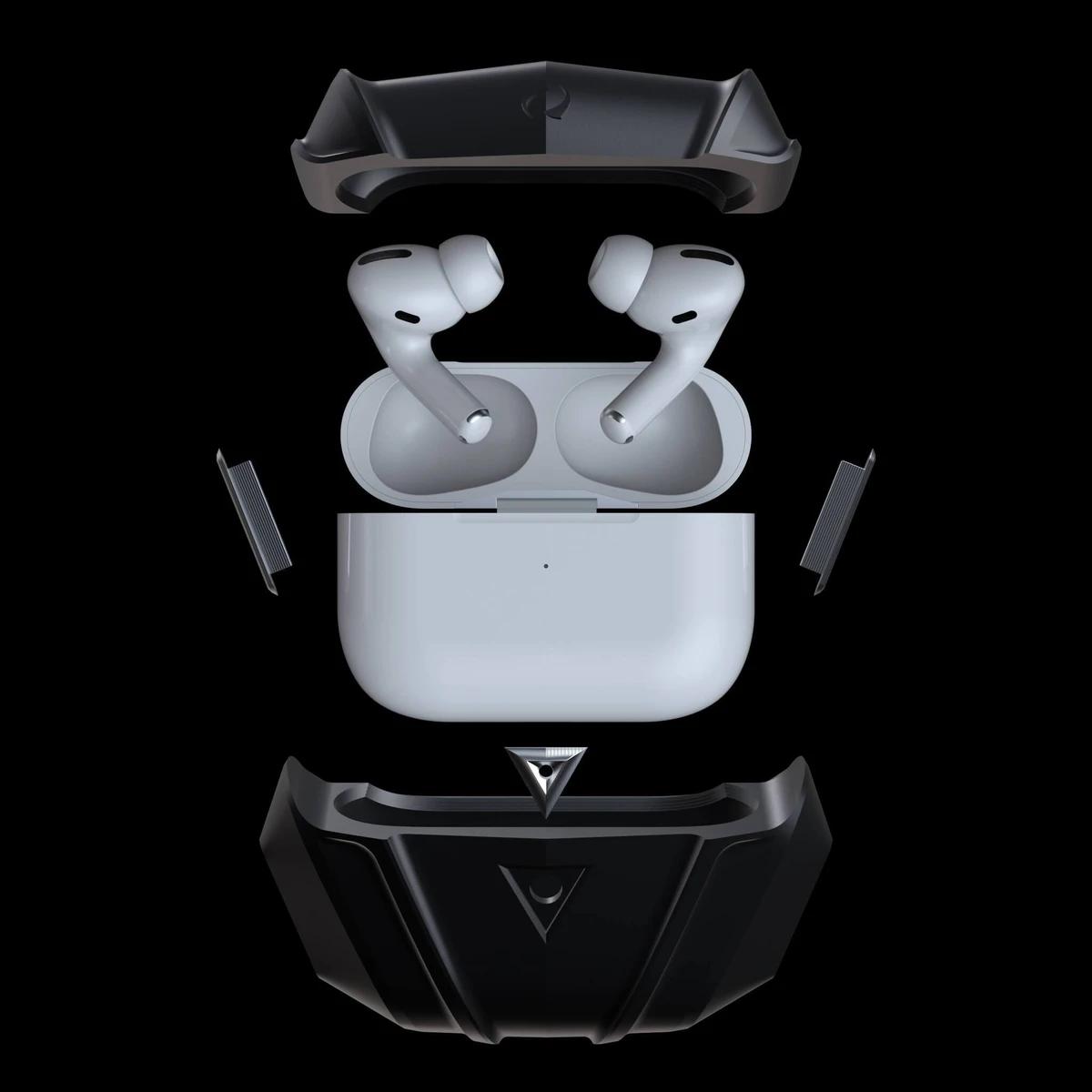 raptor luxury titanium metal airpods pro case