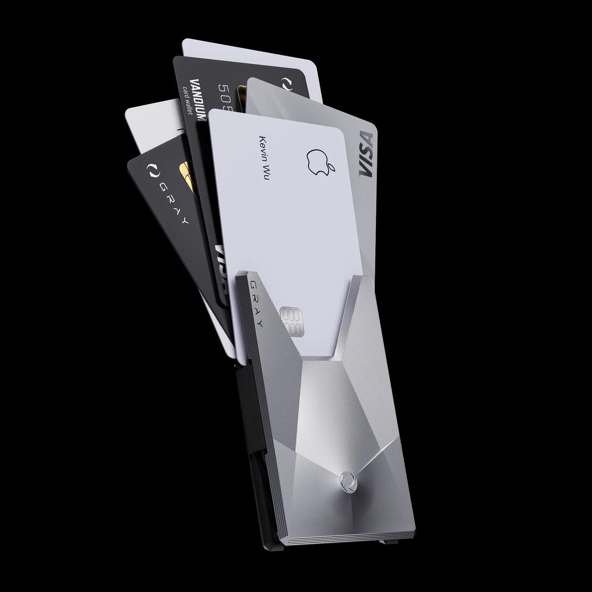 vandium luxury titanium metal card wallet
