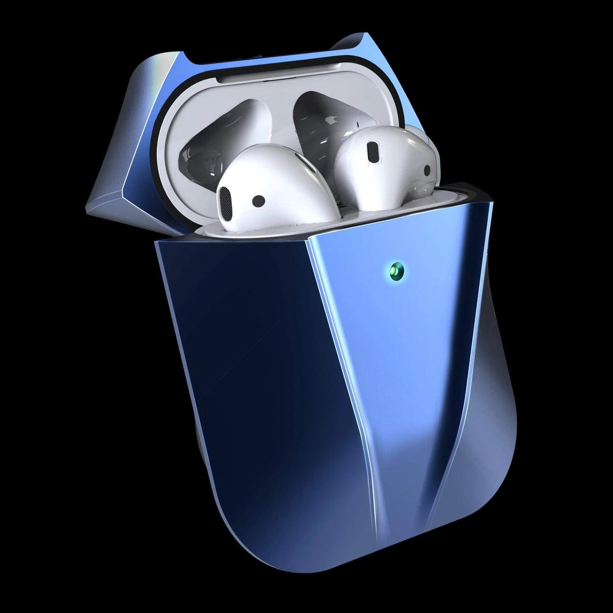 viper galactic blue aluminium metal AirPods case