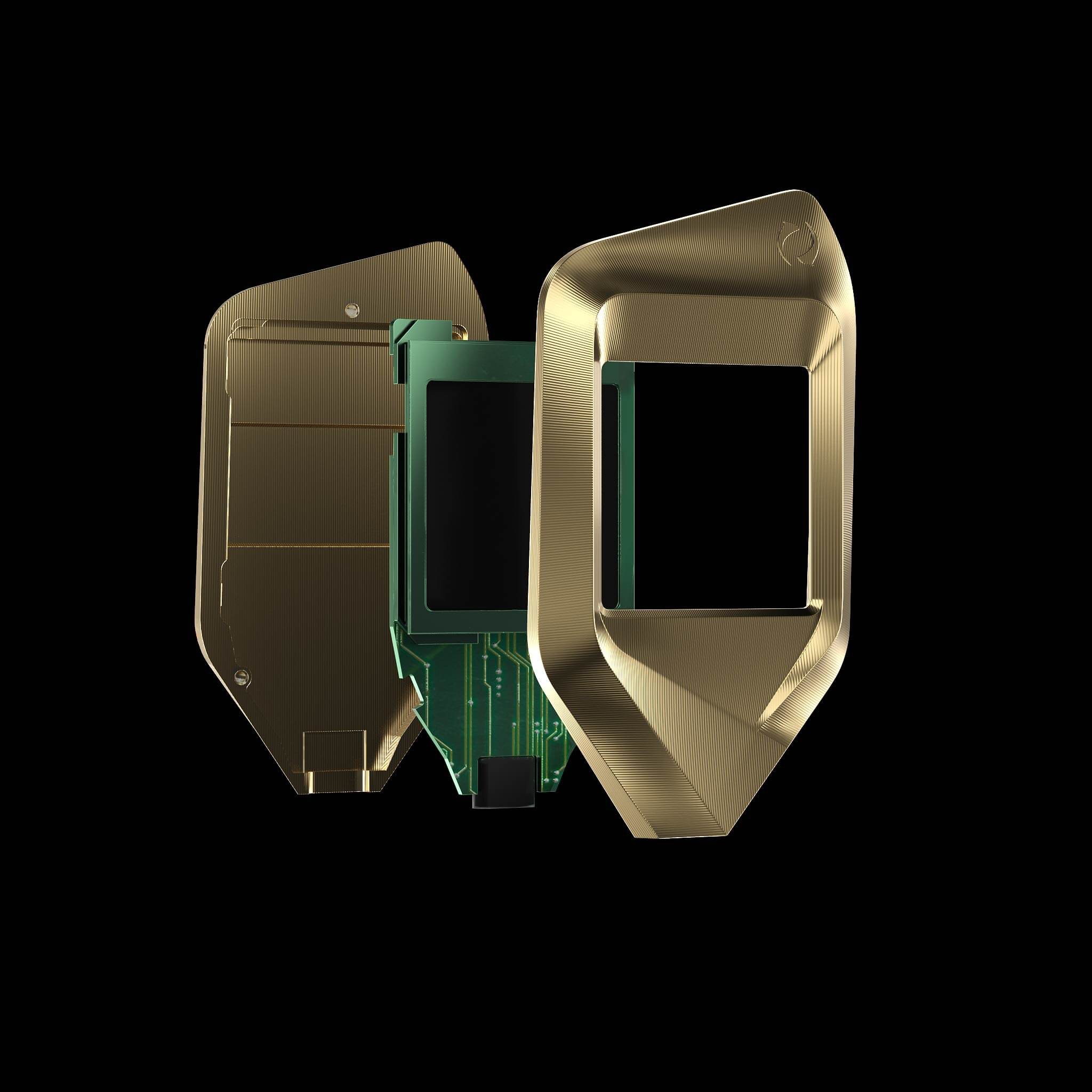 corazon gold titanium trezor bitcoin crypto hardware wallet