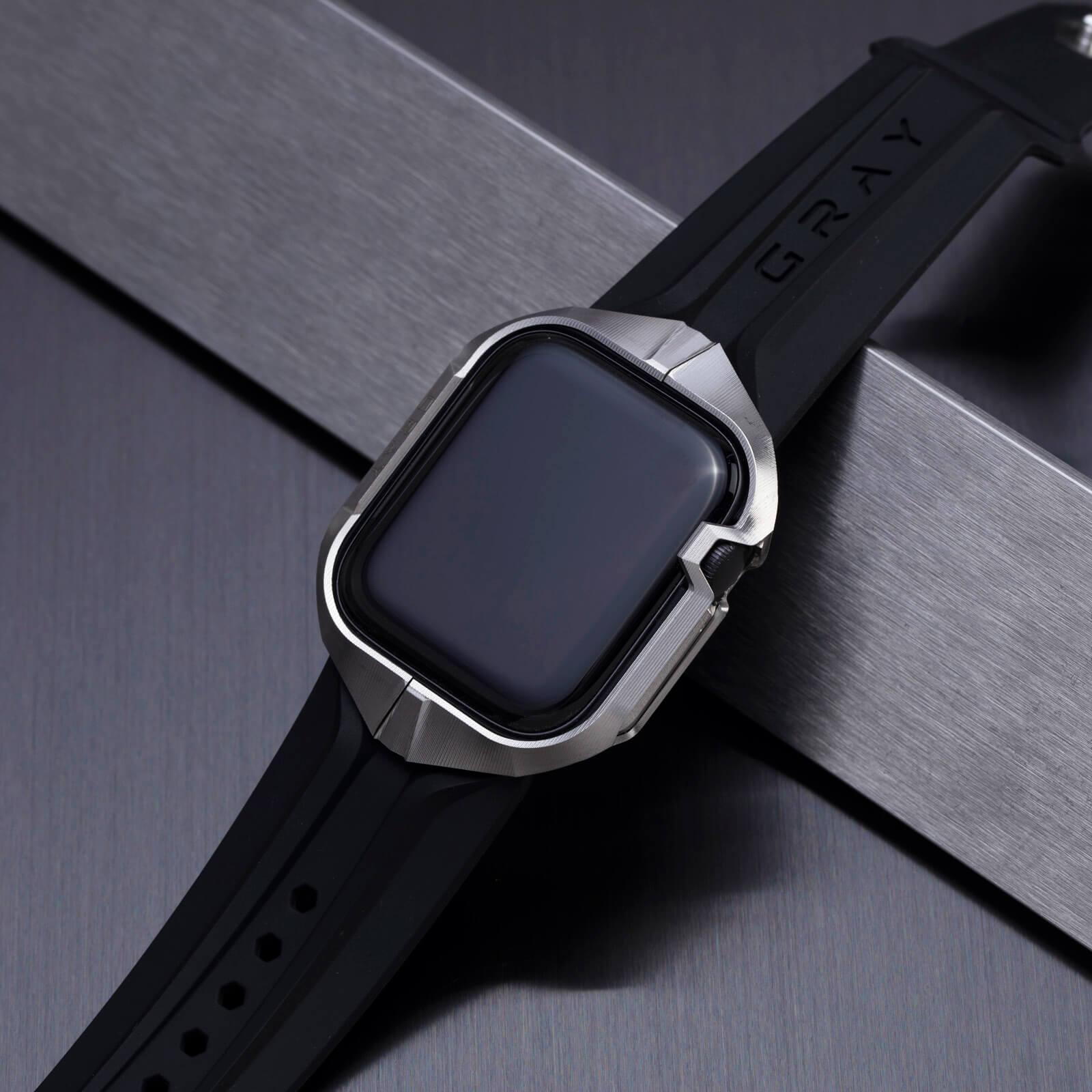 cyber watch titanium, luxury designer titanium metal apple watch case