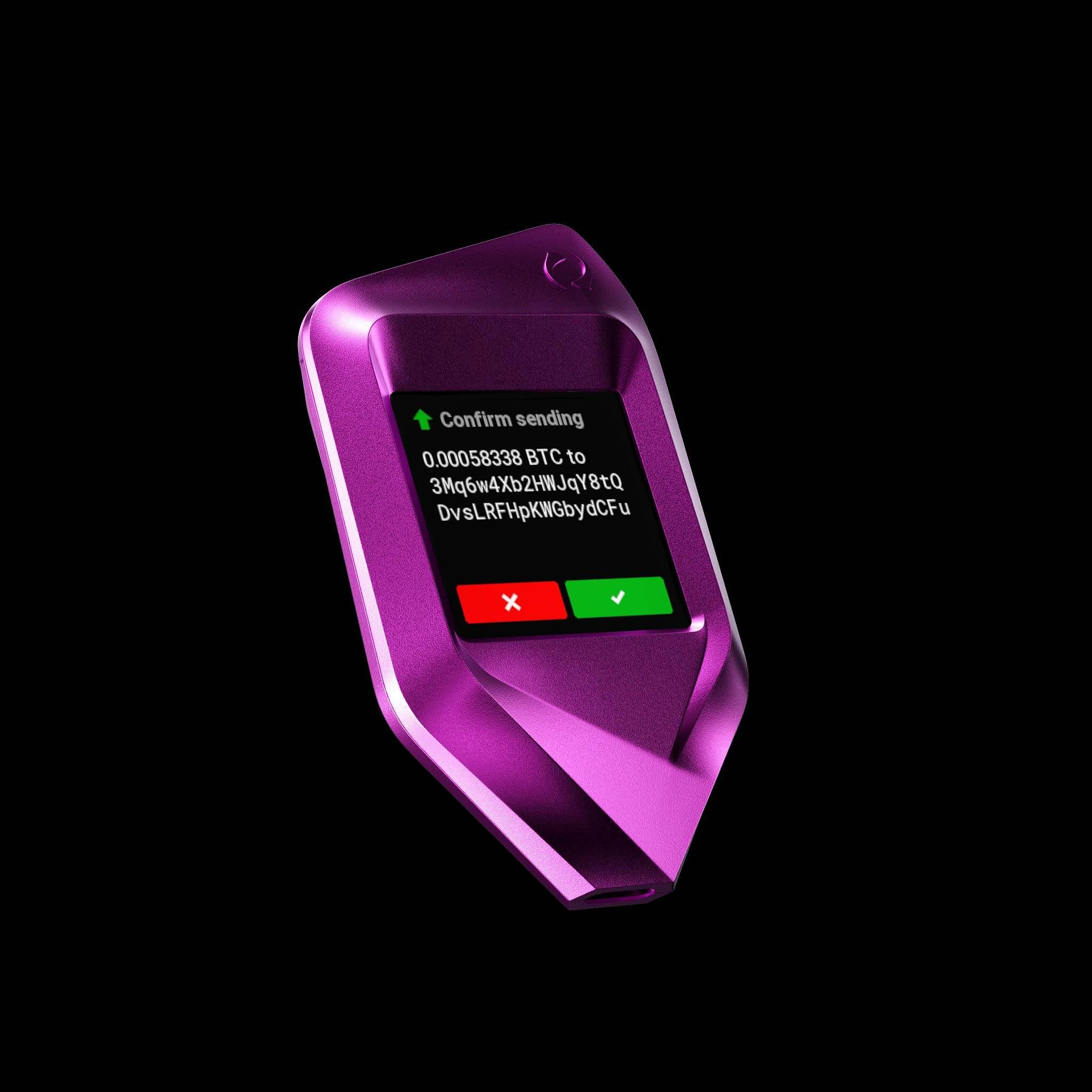 purple CORAZON wallet