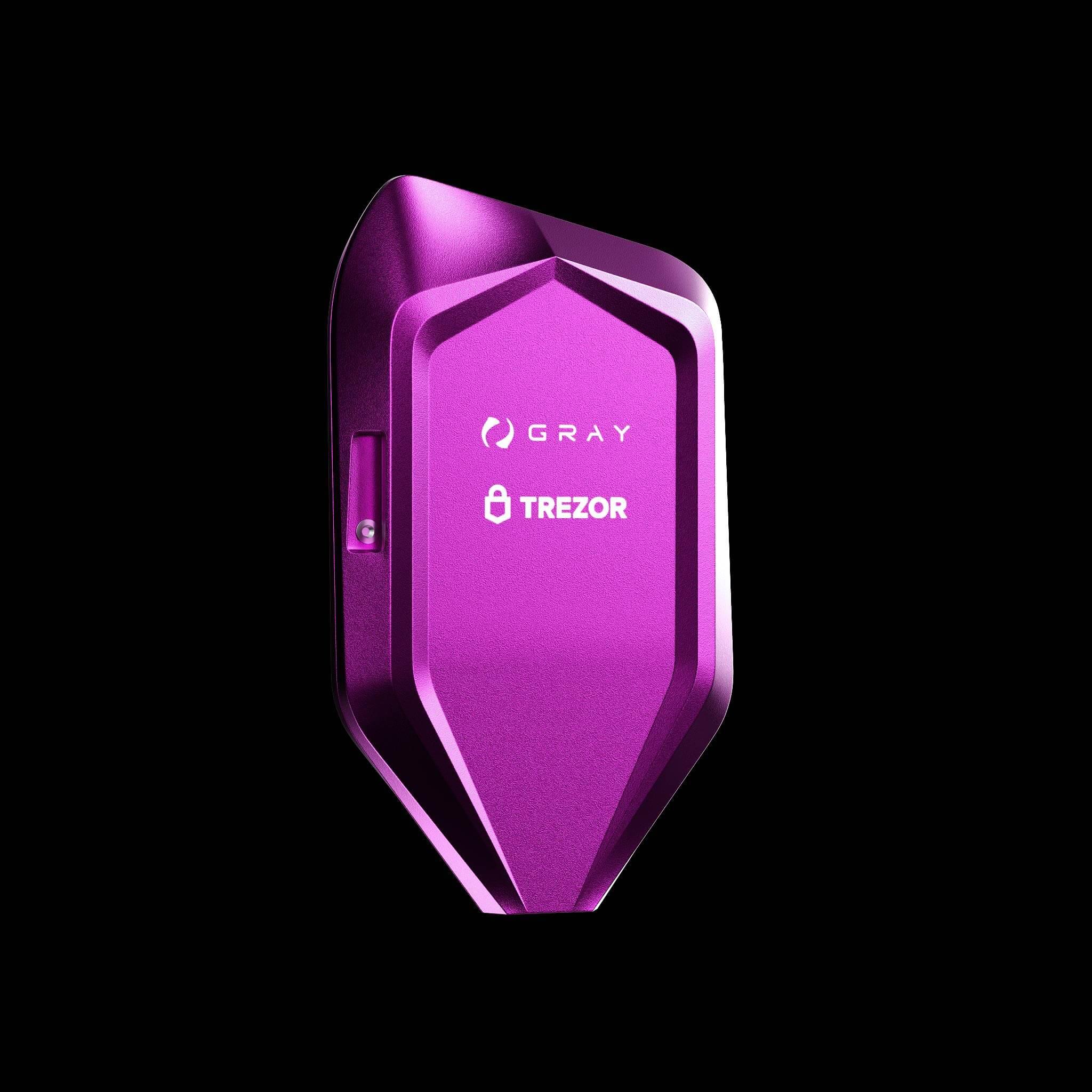 corazon purple trezor model t crypto wallet