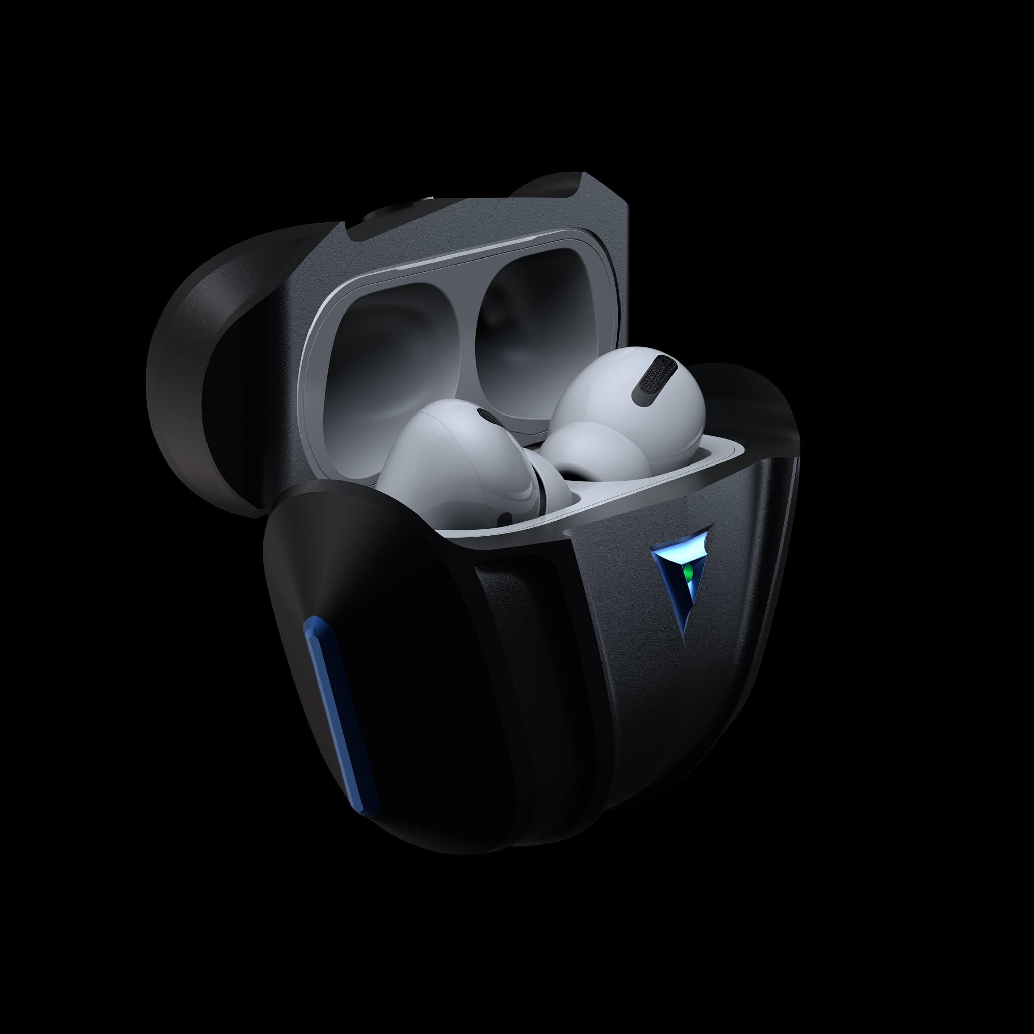 raptor blue luxury aluminium metal airpods pro case