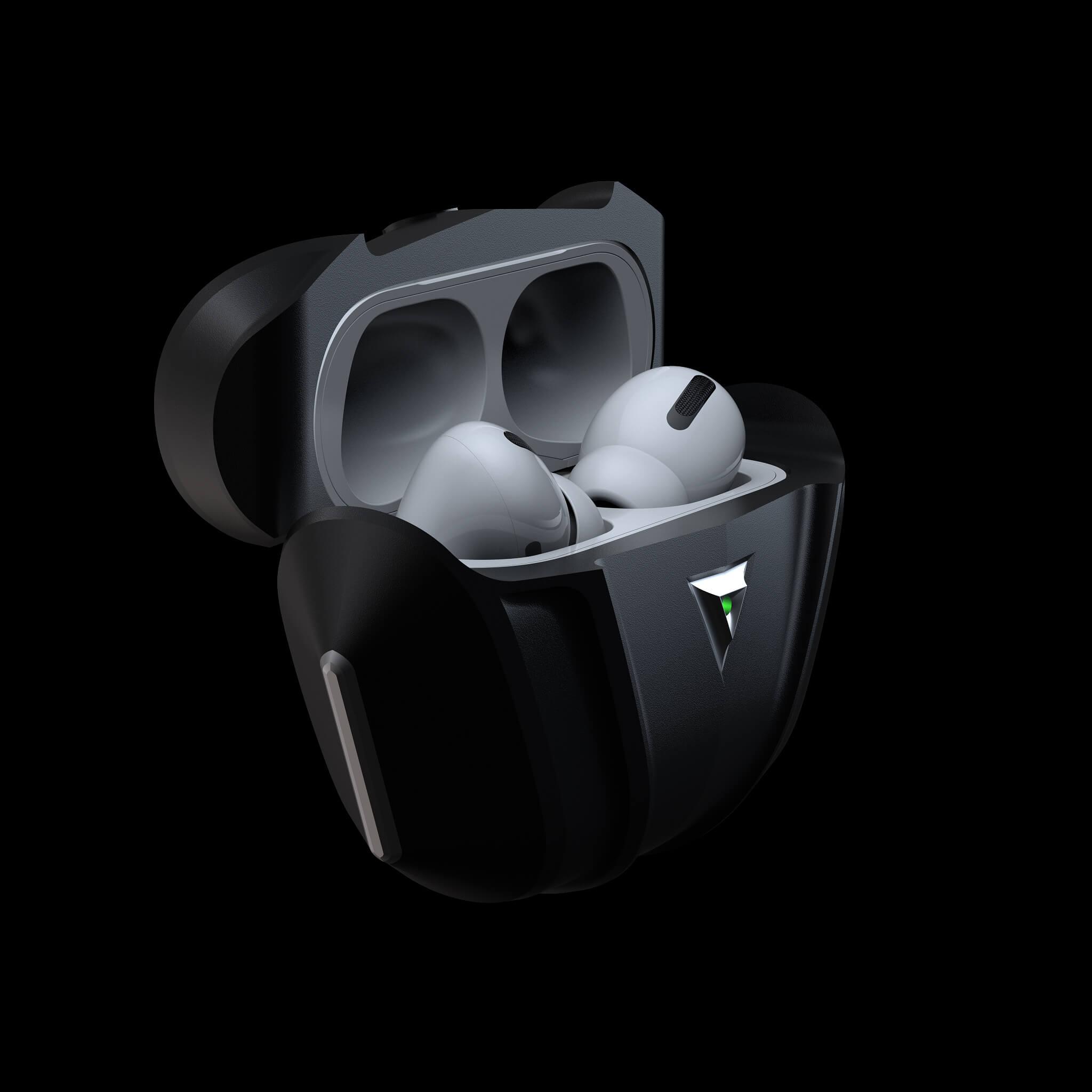 raptor shadow luxury aluminium metal airpods pro case