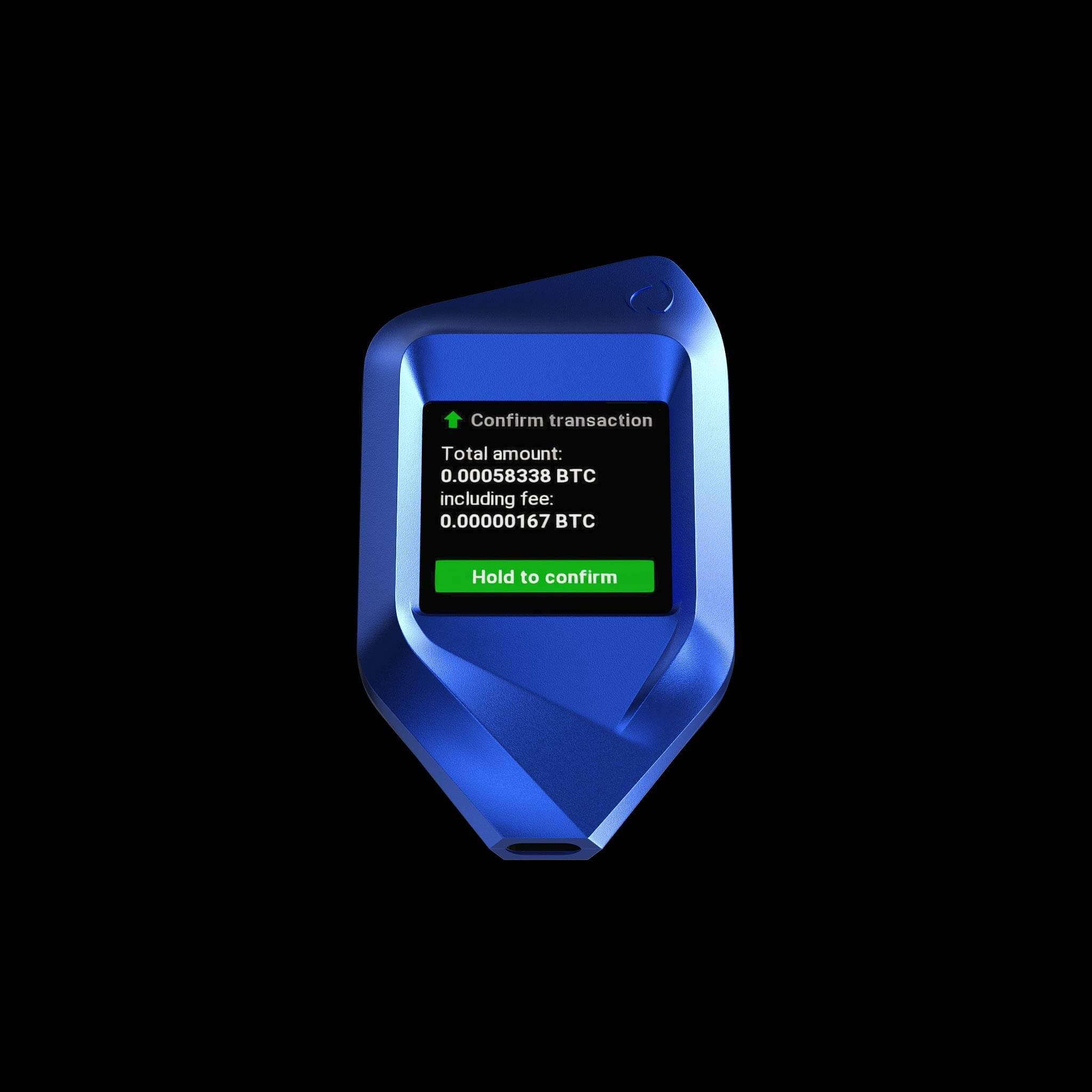 corazon blue trezor model t crypto wallet