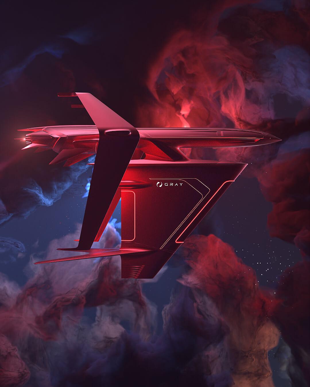 graycraft1-3 gold spaceship NFT animation