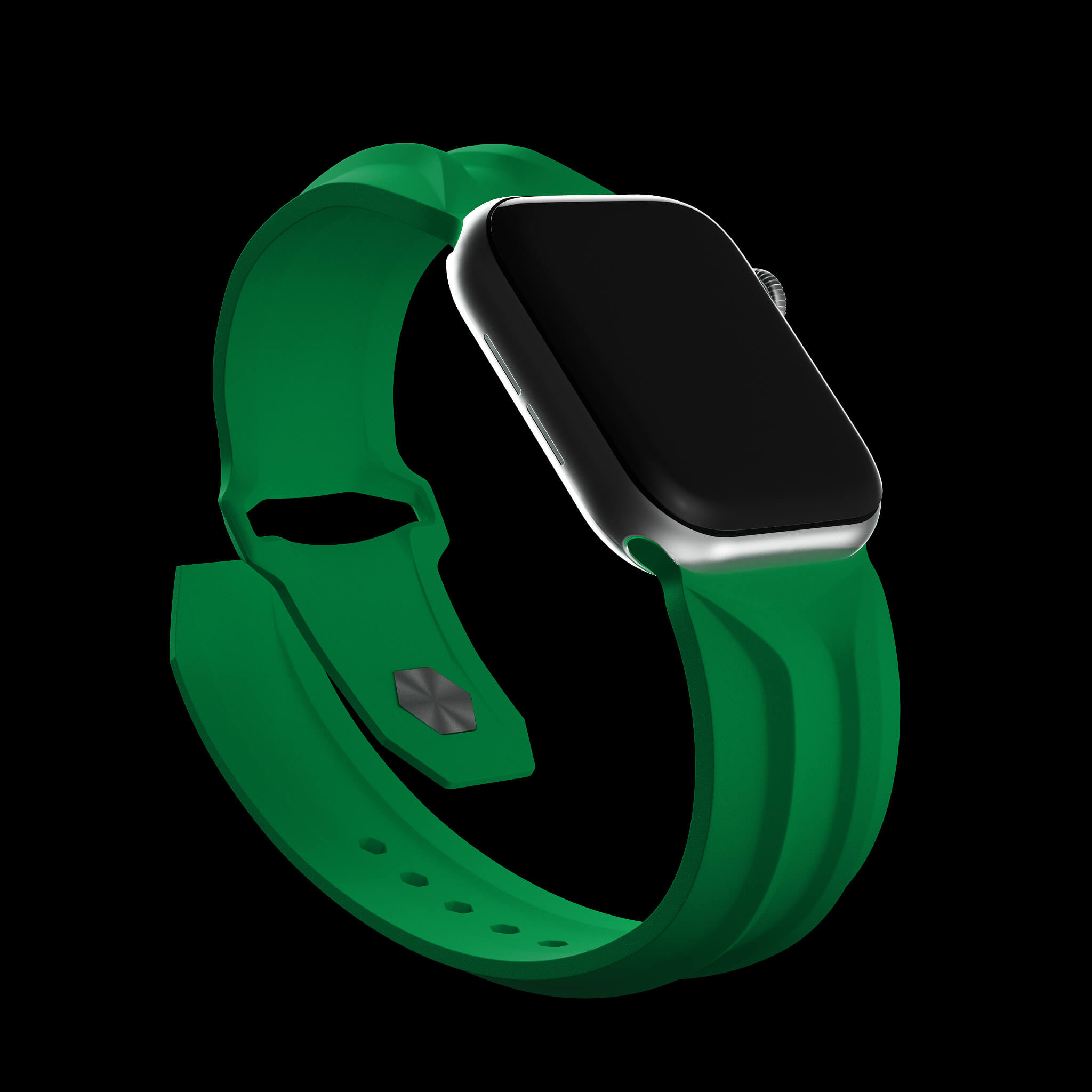 green apple watch band, cyber band