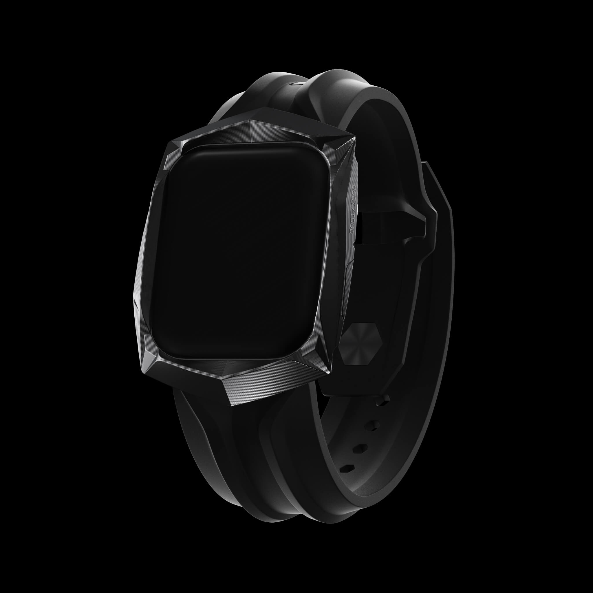 reskar black pvd titanium apple watch case and band