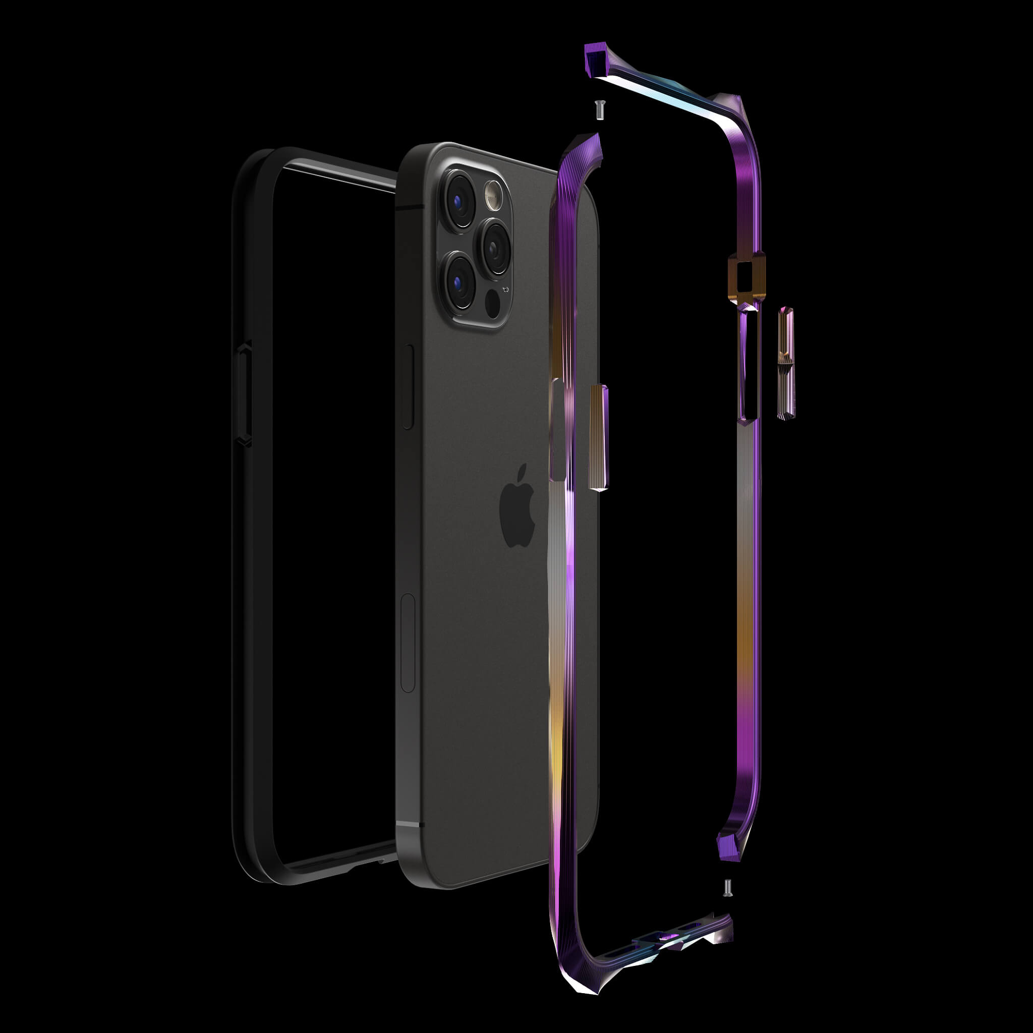 advent aurora luxury titanium metal iPhone 12 pro case