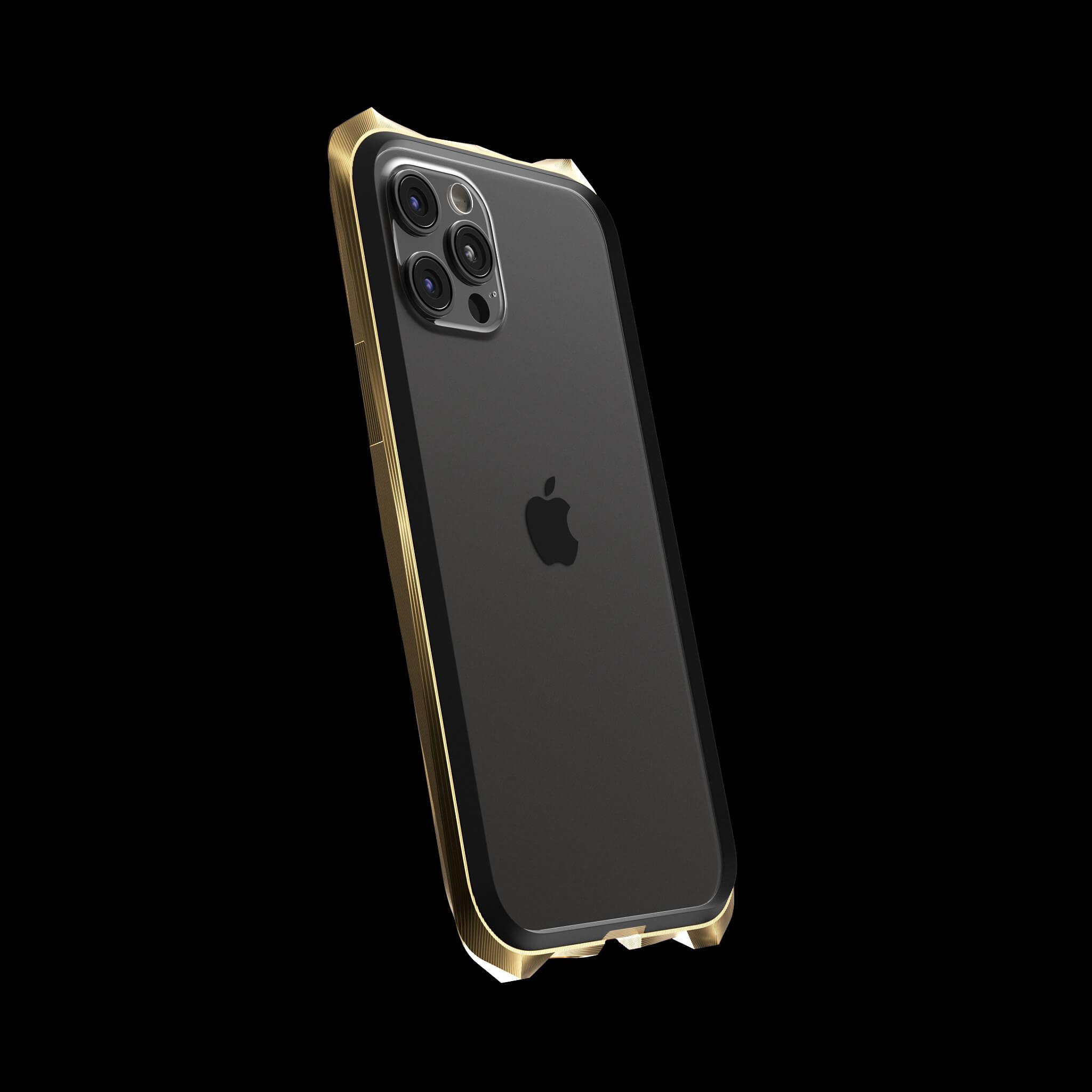 advent gold pvd coated luxury titanium iphone 12 pro case