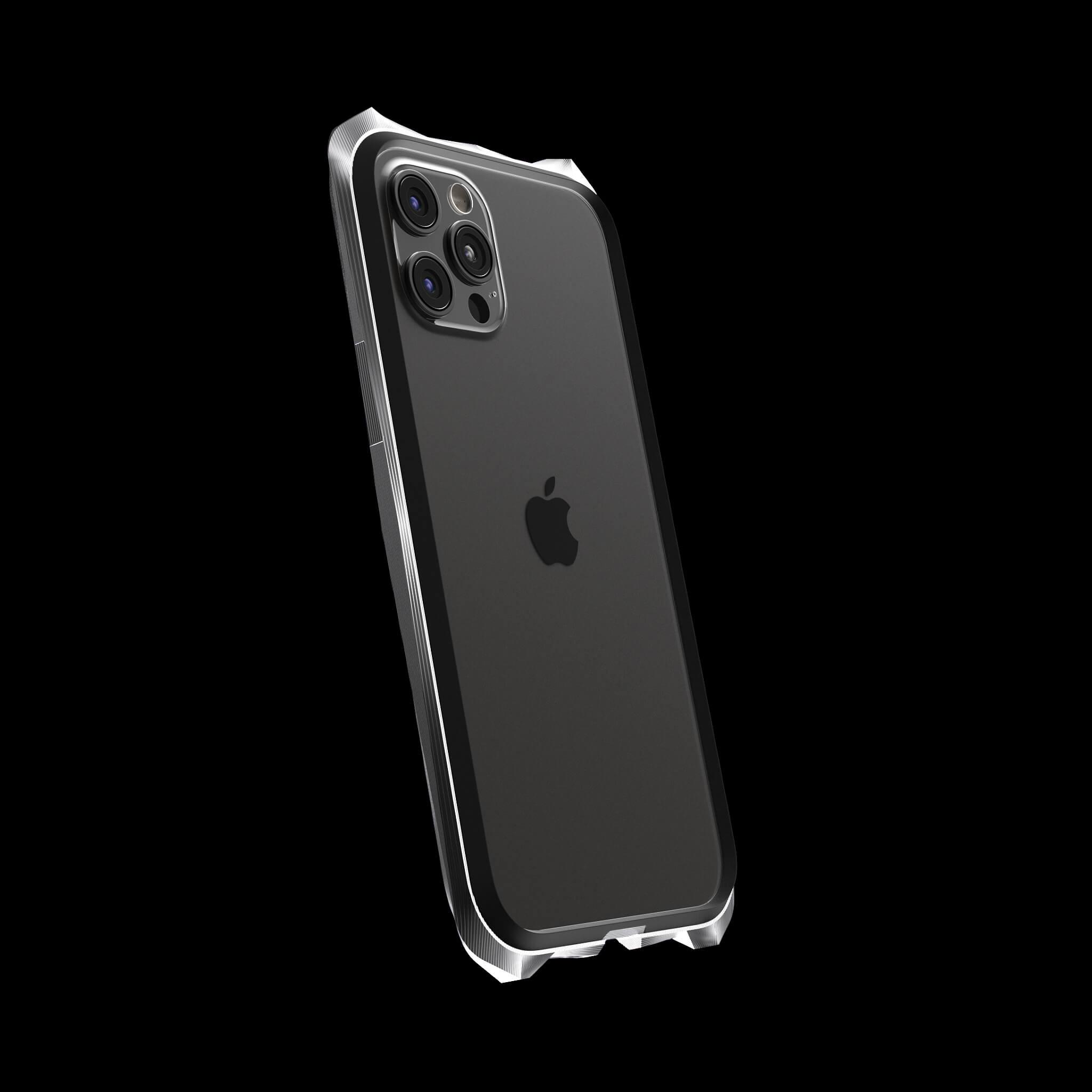 advent luxury titanium metal iPhone 12 pro case
