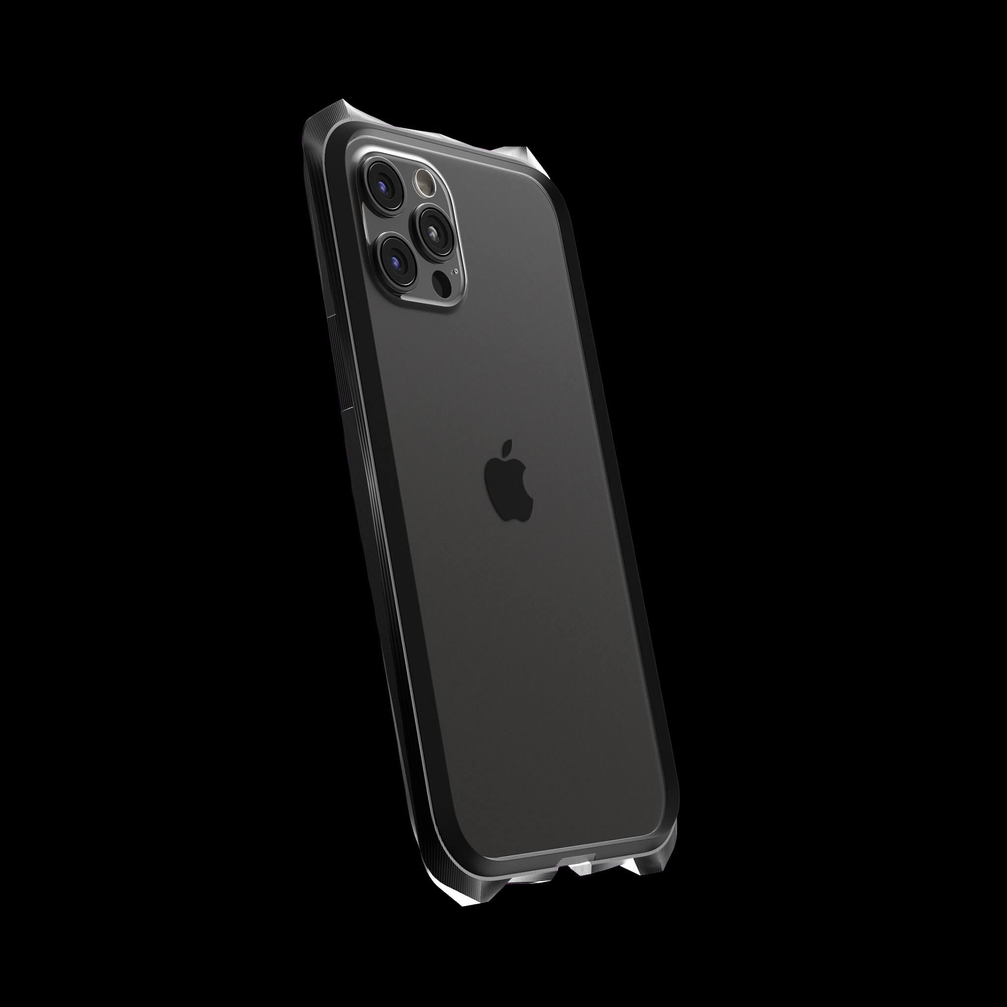 advent stealth black pvd coated luxury titanium iphone 12 pro case
