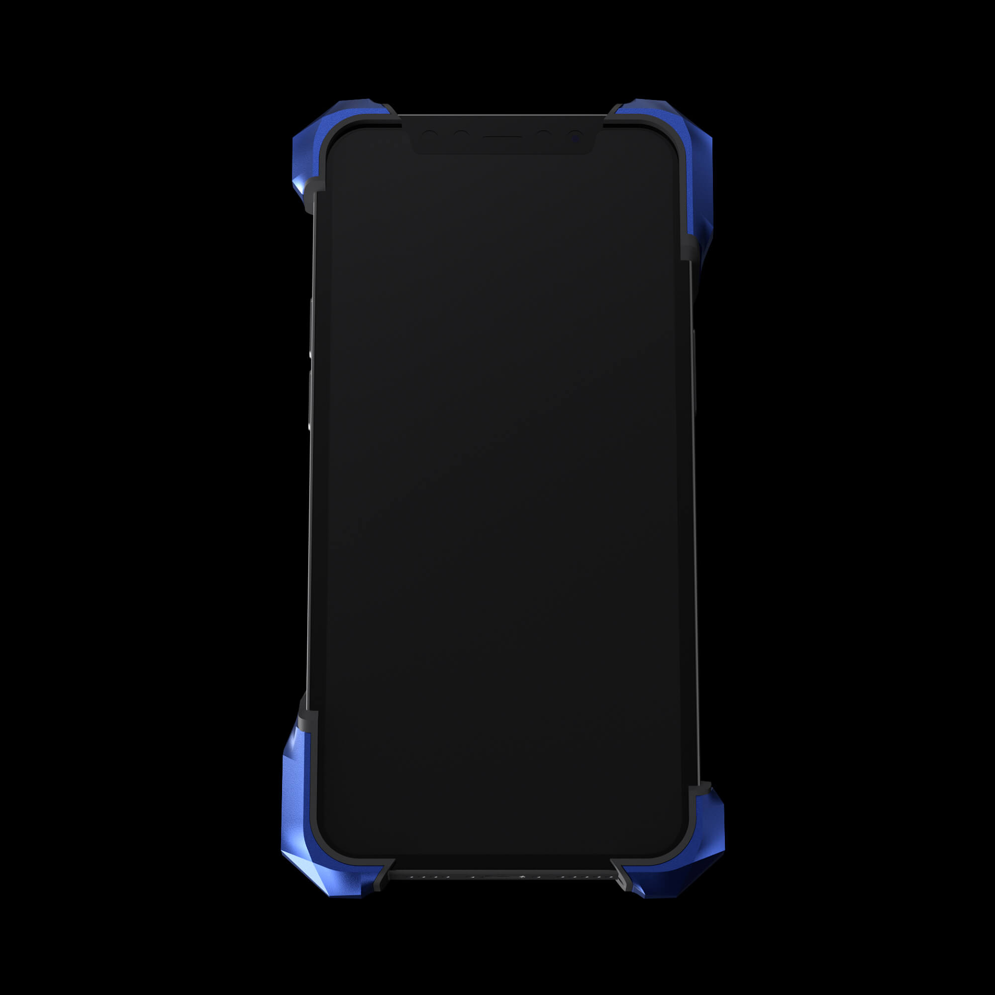 Blue and Black Cyberwatch Case on Apple Watch