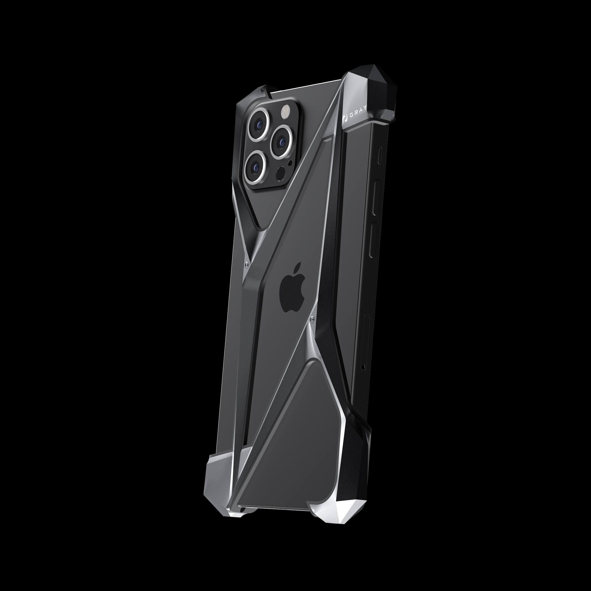 alter ego space gray aluminium metal luxury iPhone 12 pro case